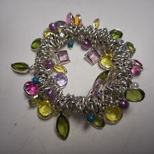 WOW FANTASTIC bracelet A LOT OF BEAUTIFUL COLOR STONES STRETCH CLASSY