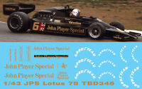 1/43 Lotus 78  John Player Special & GoodYear DECALS TB DECALS TBD346