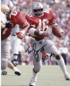TIM SPENCER  OHIO STATE BUCKEYES  3553 YDS  ACTION SIGNED 8x10