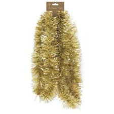 2m (6.5 Ft) Luxury GOLD MATT Thick Tinsel Christmas Tree Decoration garland xmas
