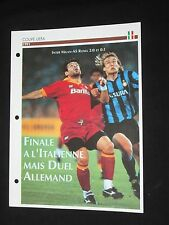 As roma inter milan 1990-1991 final c3 uefa European cup soccer sheet passion xl