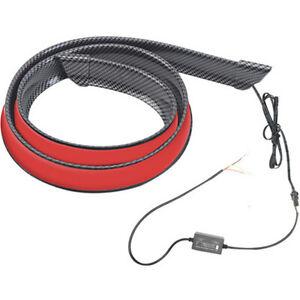Car Rear Trunk LED Spoiler Lip Tail Wing Light Lamp Bar 120cm Carbon Fiber Style