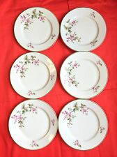 Hutschenreuther Selb Set of 6 small Bavarian plates design 20-LH pink floral