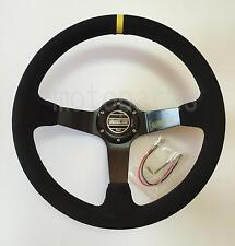 "SPARCO Deep Dish Suede Steering Wheel 350mm/14"" - Universal - Fits Boss Kit"