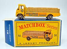 """MATCHBOX rw 51a Alboin CHIEFTAN rare sombre cargaison GRISE roues dans """"D"""" BOX"""
