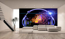 Photo Wallpaper Music and Headphones GIANT WALL DECOR PAPER POSTER FOR BEDROOM