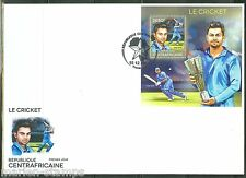 CENTRAL AFRICA  2014  CRICKET VIRAT KOHLI  S/S  FIRST DAY COVER