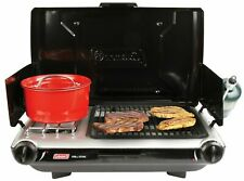 Coleman 10,000 BTU 2 Burner Grill Camp Stove Match Light Easy Strong Kitchen NEW
