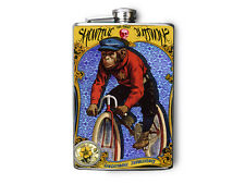 Zoo Animals Monkey on Bike Decorated Stainless Steel Flask 8oz FN489