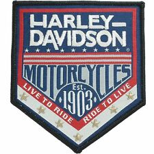 HARLEY DAVIDSON H-D Republic Woven Label with Star Studs PATCH