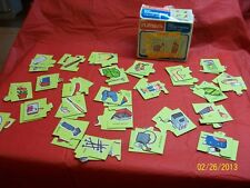 Vintage Playskool 1978 Go Together Match Ups Picture Puzzles Milton Bradley Rare