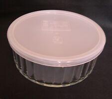 "ARCUISINE 7"" GLASS BOWL WITH PLASTIC LID - SALAD STORAGE-SOUFFLE DISH 1.2L FRUIT"