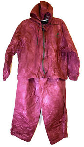 Frogg Toggs Womens Rain Suit Sz L Pink Waterproof Windproof Lightwt Breathable
