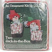 1981 Yours Truly Craft Pattern Jack-In-The-Box Christmas Ornaments Makes 2 8141F