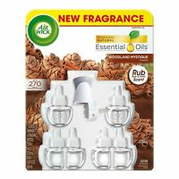 AIR WICK WOODLAND MYSTIQUE SCENTED OIL REFILLS & WARMER