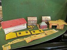 vintage O or Ho assorted cardboard buildings esso ect lot 20