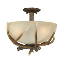 Vaxcel Yoho 16' Semi-Flush Mount, Black Walnut - C0020