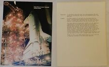The Sts-8 Flight Cover Usps/Nasa W/4 Stamps, Numbered & Original Postal Letter