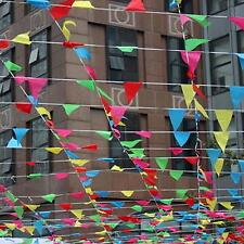 80m Triangle Flag Pennant String Banner Buntings Festival Party Holiday Decor #