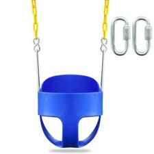 Full Bucket Swing Toddler Seat Set Playground Outdoors Garden Play Kids Toy Blue