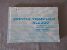 Honda XL 600 V Transalp User Manual Operating Instructions 36MM9800