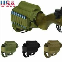 Tactical Rifle Buttstock Cheek Rest Shotgun Ammo Shell Mag Carrier Pouch Holder