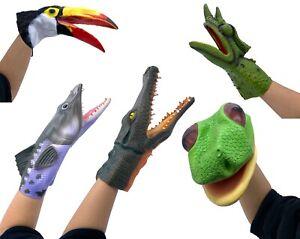 Hand Puppet Shark Crocodile Lizard Snake Parrot Bird Fish