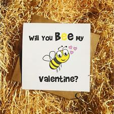 Will You Bee My Valentine Card - Funny Valentines/Anniversary/Relationship Card