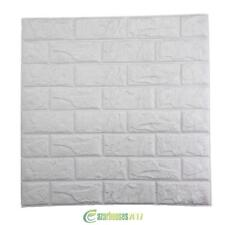 PE Foam 3D DIY Wall Stickers Paper Home Wall Decor Embossed Brick Stone 60x60cm