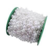 1M Zuchtperle Imitat Weiss 11mm Hochzeit Deko Oval Perlenband Perlenschnur C340