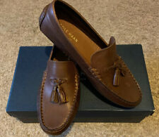 NEW Nib COLE HAAN Men KELSON TASSEL Harvest Brown Leather Shoes 7.5M $150 C25972