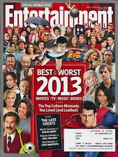 ENTERTAINMENT WEEKLY Double Issue 12-27-13 / 1/3/14 Best & Worst of 2013 C-1-3