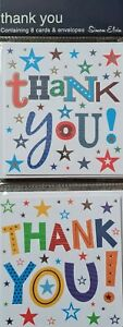 PACK OF 8 SMALL SIMON ELVIN THANK YOU CARDS WITH ENVELOPES
