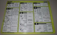 Inspektionsblatt Toyota Starlet EP 70 / EP 71 Service Blatt Stand Oktober 1984!