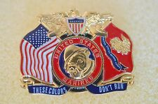 US USA USMC Marine Corps These Colors Don't Run Military Hat Lapel Pin
