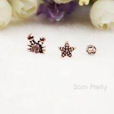 6Pcs/set Crab Star Design Rhinestone Women Earrings Ear Studs Jewellery Gift