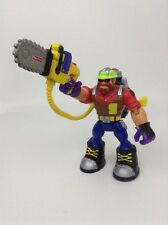 Fisher Price Rescue Heroes Toy Action Figure Lumberjack w/ Chainsaw Tool