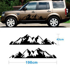 2x Snow Mountain decal Vinyl Sticker for Off Road Camper Van Motorhome Black