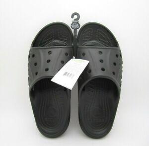 New W/ Tag Mens Crocs Baya Slide Black Sandal Size 11US (A44)