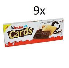 9x Kinder Cards Waffel mit scholokade schoko riegel 5 Stück kekse waffel 128 g