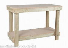 3FT NEW HAND MADE WOODEN WOOD WORK BENCH TABLE MDF TOP HEAVY DUTY