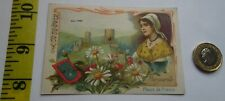RARE  ANTIQUE VICTORIAN FRENCH BERRY  MARGUERITE (DAISY ) PERFUME TRADE CARD