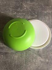 2 x 550 ml grün-weiß Rührschüssel Tupperware Schüssel Ergonomica NEU