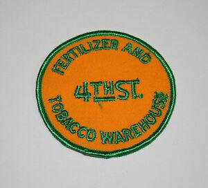 Rare 4th St Fertilizer & Tobacco Warehouse Farm Cloth Jacket Patch New NOS 1960s