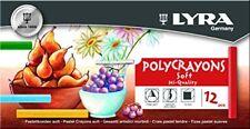 Lyra - boite de 12 Pastels Tendres Polycrayons Soft Couleurs assorties