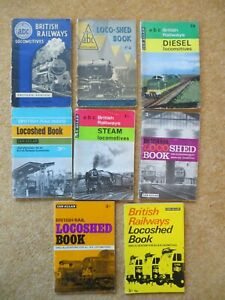 railway books x 8 IAN ALLAN LOCO SPOTTERS steam, diesel, shed book, 1950s/60s