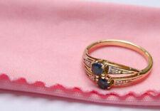 Saphir aus mehrfarbigem Gold für Damen mit Diamanten