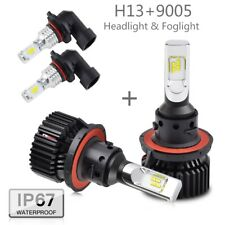For Mazda Tribute 2008-2010 2011 4x H13 9145 LED Headlight Fog Light Combo Bulbs