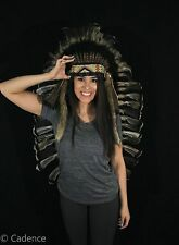 Authentic Native American Indian Handmade Headdress Cherokee War Bonnet. Nice!