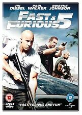 The fast and the furious 5 (2011) Dwayne Johnson, Vin Diesel NEW UK REGION 2 DVD